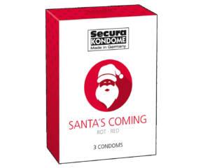 Secura Santa Coming - epres óvszer (3db)