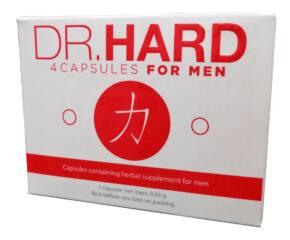 DR. HARD - étrendkiegészítő kapszula férfiaknak (4db)