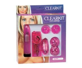 Áttetsző vibrátor készlet - Pink