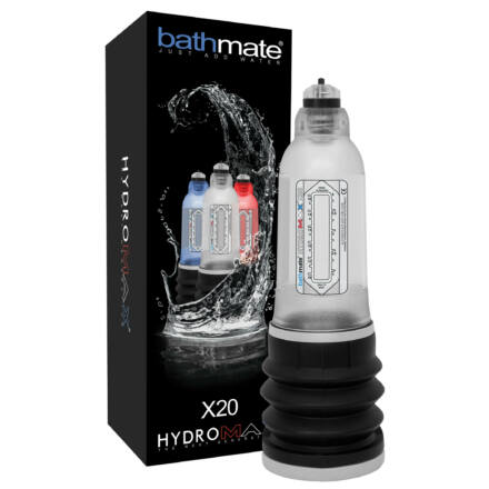 BathMate Hydromax X20 - hydropumpa (áttetsző